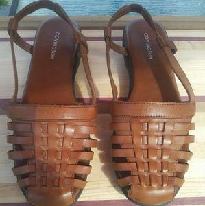 Covington Brown Leather Sandals Size 7.5